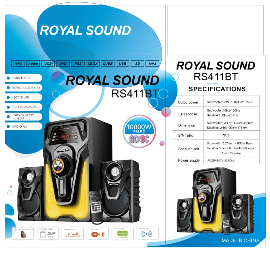 Royal Sound Channel 10000 Watts Multimedia Sub-woofer Speakers