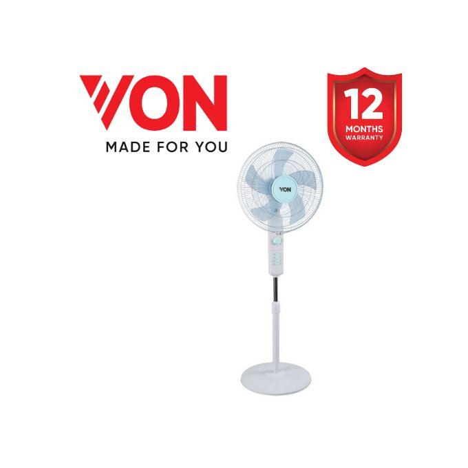 Von VSNJ6620L 16 Inch Floor Standing Fan - White