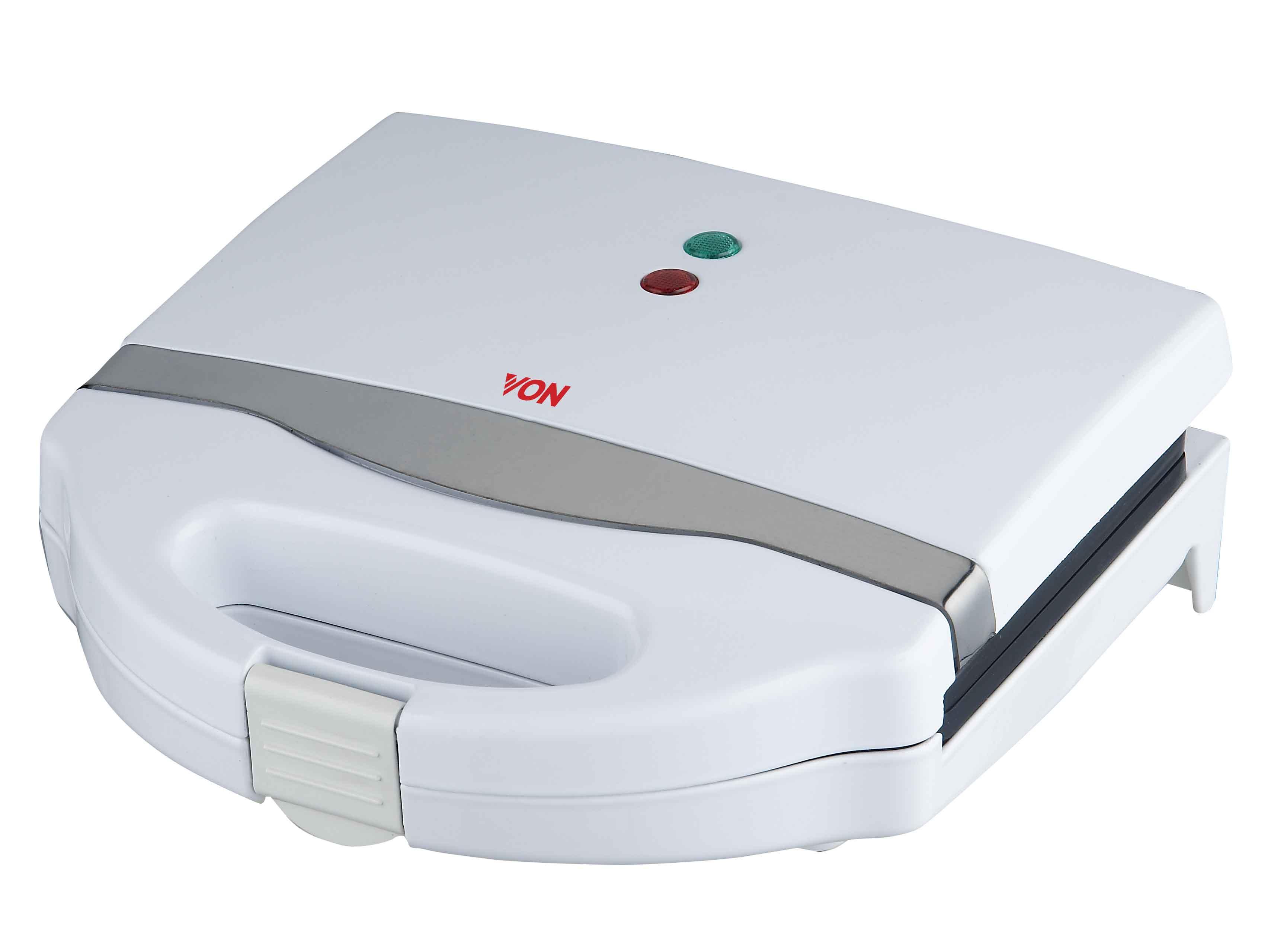 VON VSSP2YMCW, 2 Slice Sandwich Maker - White