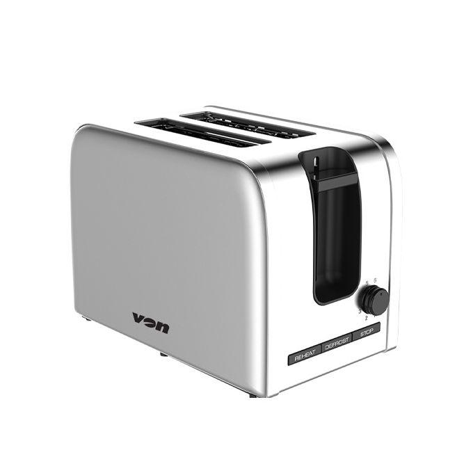 Von VSTP02MVX 2 Slice Toaster - Stainless Steel