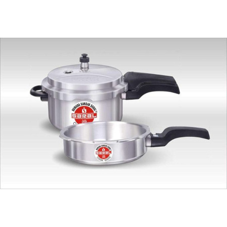 Saral 2 Pieces Combo Pressure Cookers (3 L & 5 L)