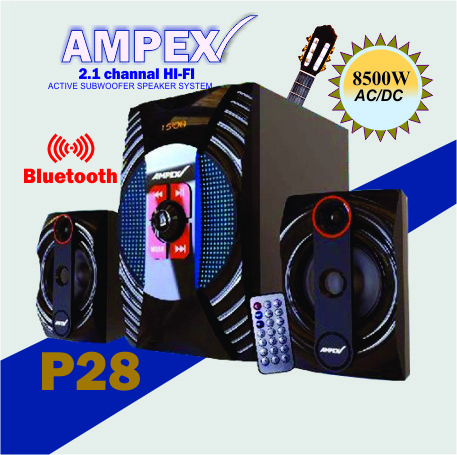 Ampex SubWooferHighTech,Bluetooth,DigitalFM,USB,8500W