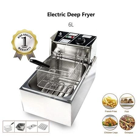 Electric Deep Fryer Machine -Capacity 6L-2500W