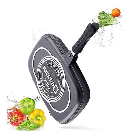 Dessini Double Grill Nonstick Pan- 36CM