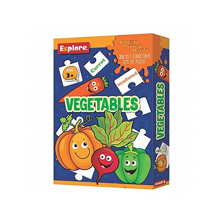 Explore Vegetable Edu Puzzle, 20 Self Correcting Set Of Puzzle