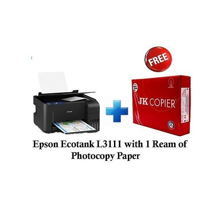 Epson Ecotank L3111 And Get 1 Free Photocopy Paper