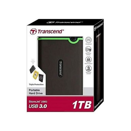 Transcend External Hard Disk - 1TB - Black