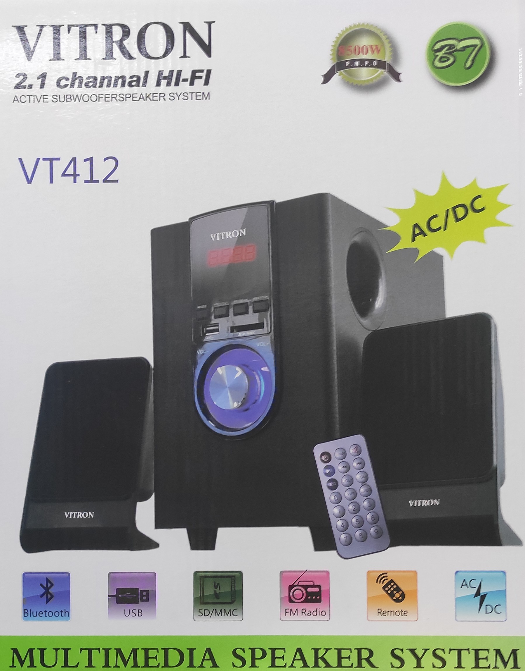 Vitron VT412 2.1chanel multimedia speaker system