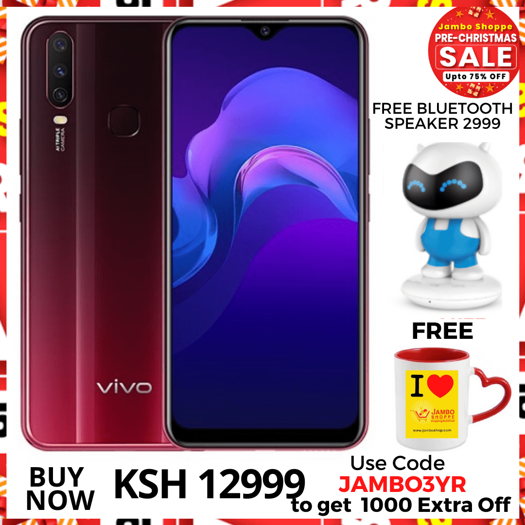 Vivo Y12 - 6.35 Inch -With Free Earphones & 2999 worth backpack. Use code JAMBO3YR TO GET 1000 EXTRA OFF