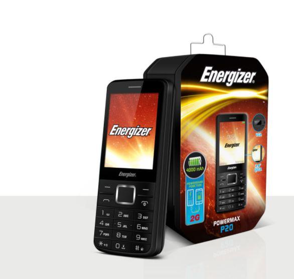 Energizer P20: 2.8 inch, 2G, Dual Sim- 4000mAh