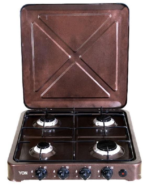Von 0-440.C/ VAC4F400C 4 Gas Cooker - Copper