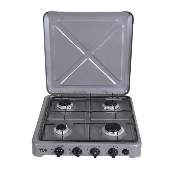 Von 0-440.S / VAC4F400S 4 Gas Cooker - Silver