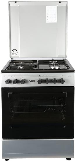 Von 7312NEG/VAC6S031UY 3 Gas + 1 Electric Cooker - Grey