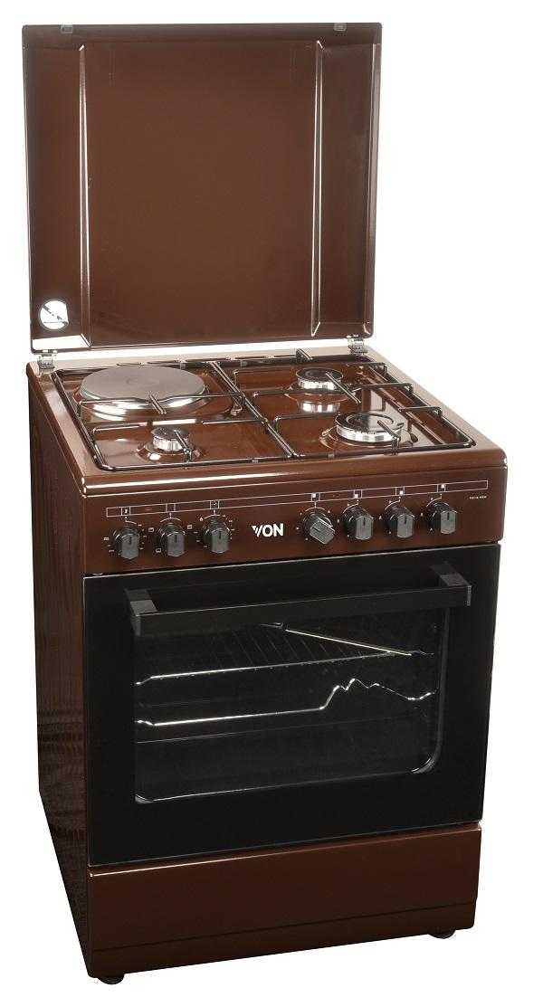 Von 7312NEK/VAC6S031UB 3 Gas + 1 Electric Cooker - Mono Brown