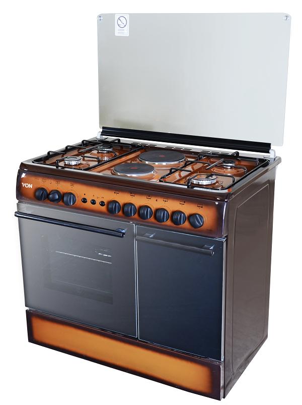 Von 8422NED/VAC9S042CD 4 Gas + 2 Electric Cooker - TDF Dark
