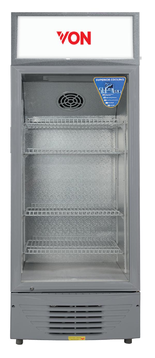 Von HPBC198W/VARV19DAS Vertical Cooler, 188L - White+Grey