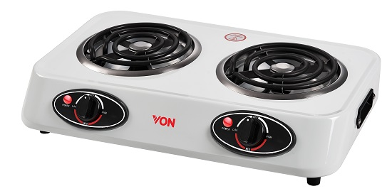 Von HPTC-21CW/VACC0224CW Table Top Double Coil Cooker