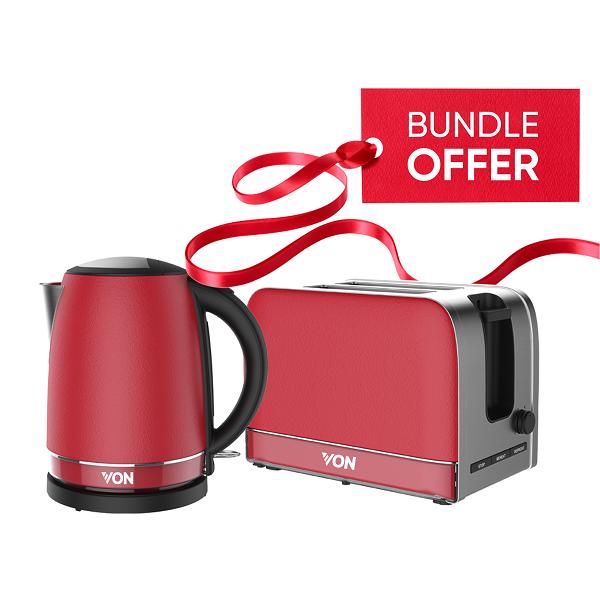 Von Premium Kettle + Toaster Bundle 3
