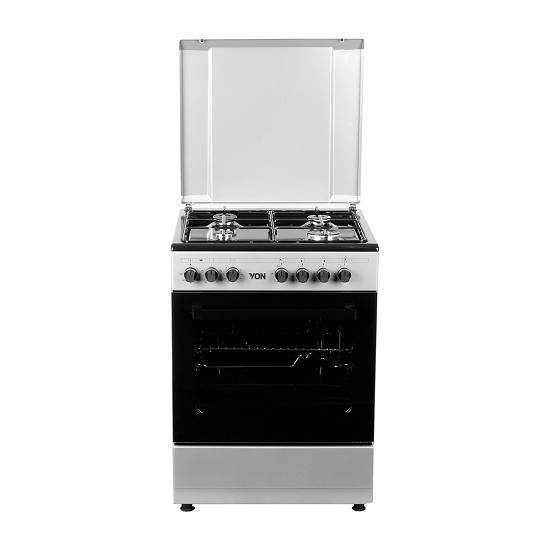 Von VAC6S040UY 4 Gas + 1 Electric Oven - Grey