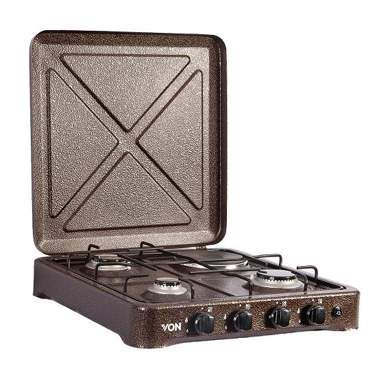 Von O-431.C/ VAC4F300C 3 Gas + 1 Electric Cooker - Copper