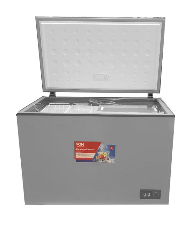 Von VAFC-38DHS Chest Freezers, 380L - Grey