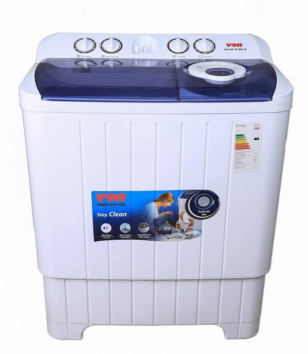 Von VALW-07MLB Twin Tub Washing Machine - White - 7Kg
