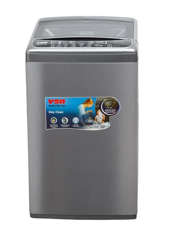 Von VALW-07TSX Top Load Washing Machine,7KG - Stainless Steel