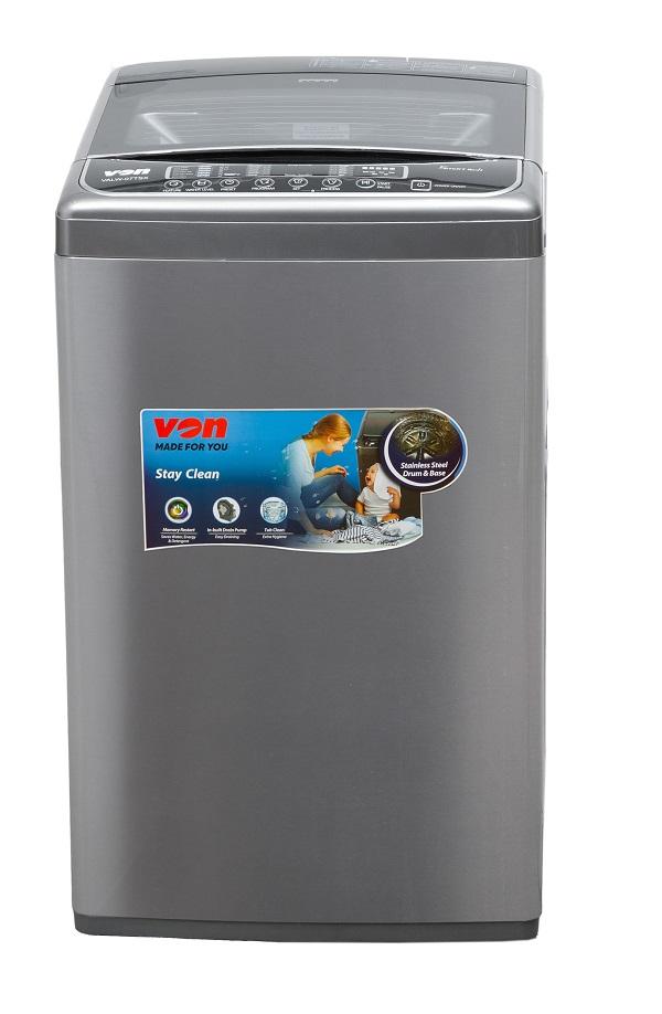 Von VALW-12TSX Top Load Washing Machine,12KG - Stainless Steel