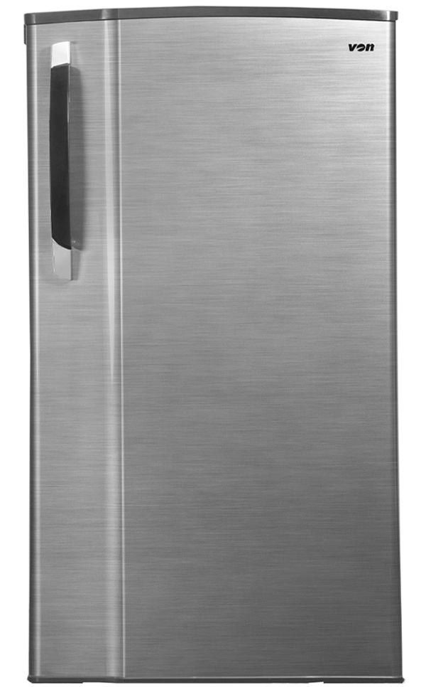 Von VARS-24DGS Single Door Fridge 185L - Silver