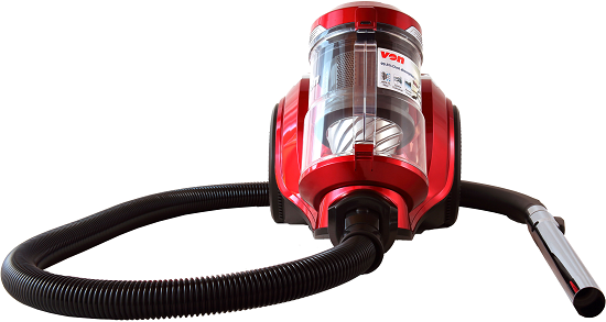 Von VAVC-16DMR Dry Bagless Vacuum Cleaner, 1.6L - Red