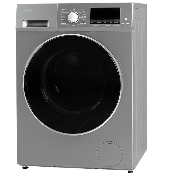 Von VAWD-106FGS Washer & Dryer Front Load 10/6 KG - Silver