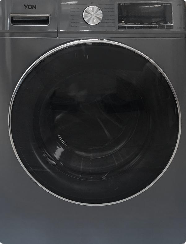 Von VAWD-805FMS Washer & Dryer Front Load 8/5 KG - Silver