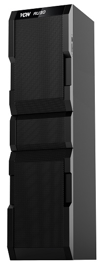 Von VEA2001FT Active Speakers, 1.0CH, Bluetooth, 200W RMS, LED Lighting