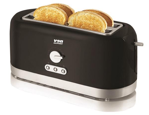 Von VSTP04MVK 4 Slice Toaster - Black
