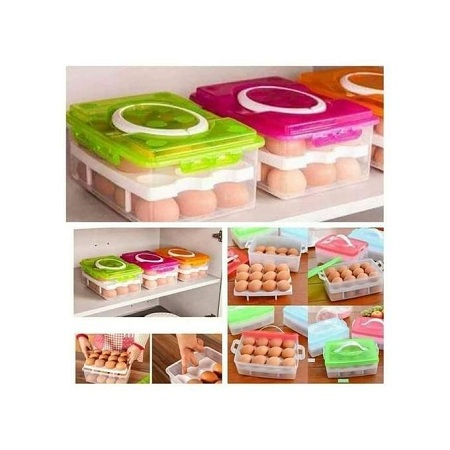 24 Eggs Organizer Tray - Assorted Colour