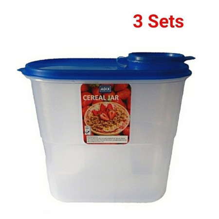3Pcs Cereal containers Storage Jar