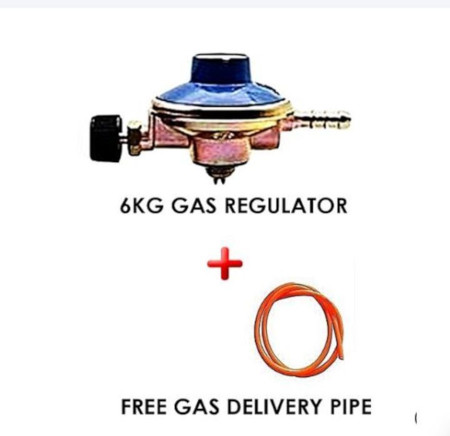 6kg Gas Regulator Plus Gas Delivery Pipe
