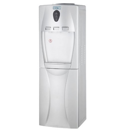 SOLSTAR Hot ,Cold & Normal Water Dispenser with 12L Cabinet – Silver Color
