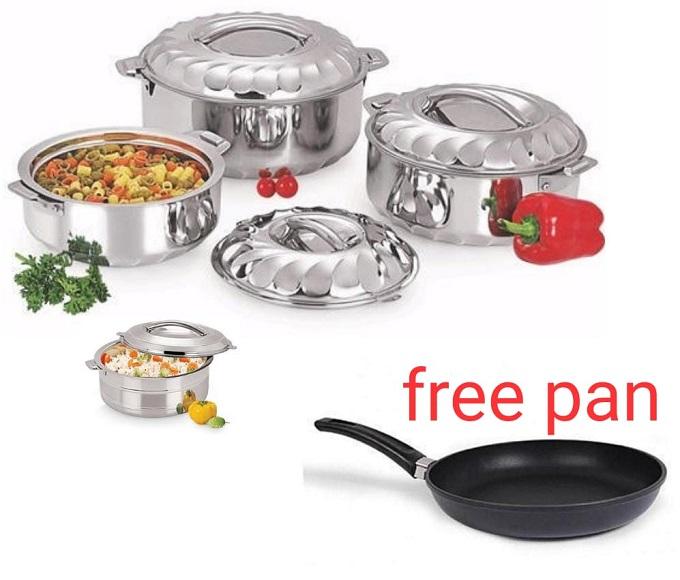 Generic 4pcs hot serving dishes plus free pan