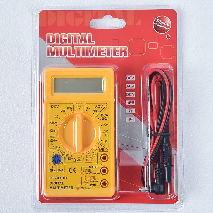Generic Mini Digital Multimeter AC/DC Tester Voltmeter-Yellow