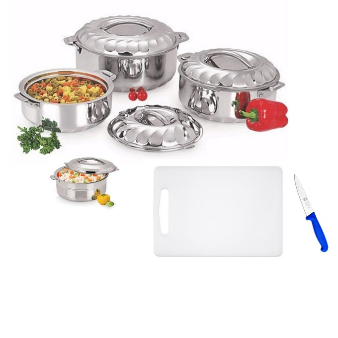 Generic serving hot dishes PLUS free chopping board and a knife