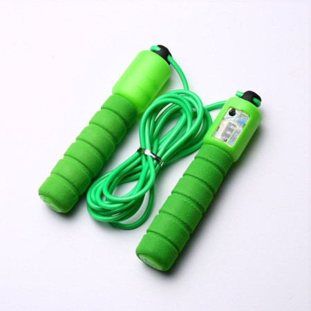 Digital Skipping Rope (With Jumps Counter) Green