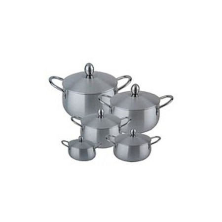Heavy Gauge Aluminium Cooking Pots silver 10pcs