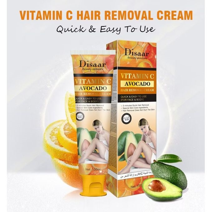 Disaar Vitamin C Avocado Hair Removal Cream
