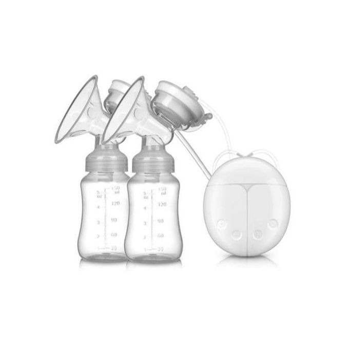 Electric Double Breast Pump With Milk Bottle