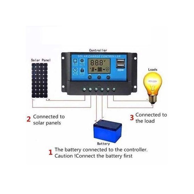 Solarmax 10A Solar Panel Battery Regulator Charge Controller 12V 24V
