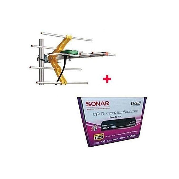Sonar Free To Air Digital Decoder With Free Antenna