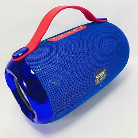 Wster WS-1830 Xtreme Portable Wireless Bluetooth Speaker -Blue