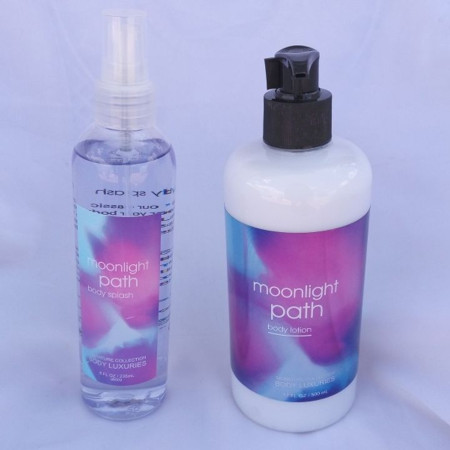 Signature collection moonlight path 2-in-1 body splash & lotion pump