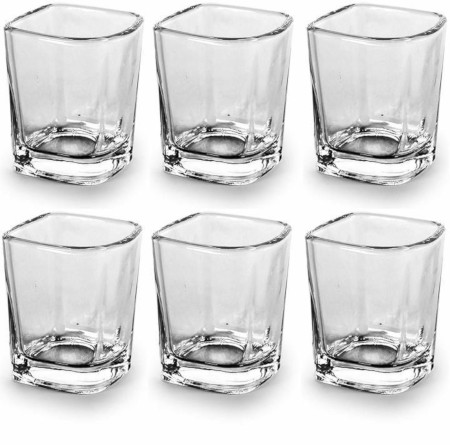 Unique Whiskey glasses crystal clear 6 pcs